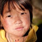 Dziewczynka w wiosce Ura